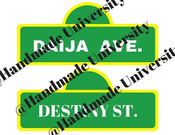 photo regarding Printable Door Decs identify Printable: Road Indication Doorway Dec Tag RA doorway decoration