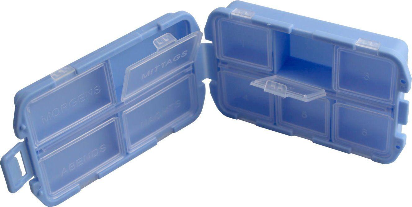 1 x Medikamentenbox Tablettenbox Pillenbox 4 Große Fächer und 6 ...