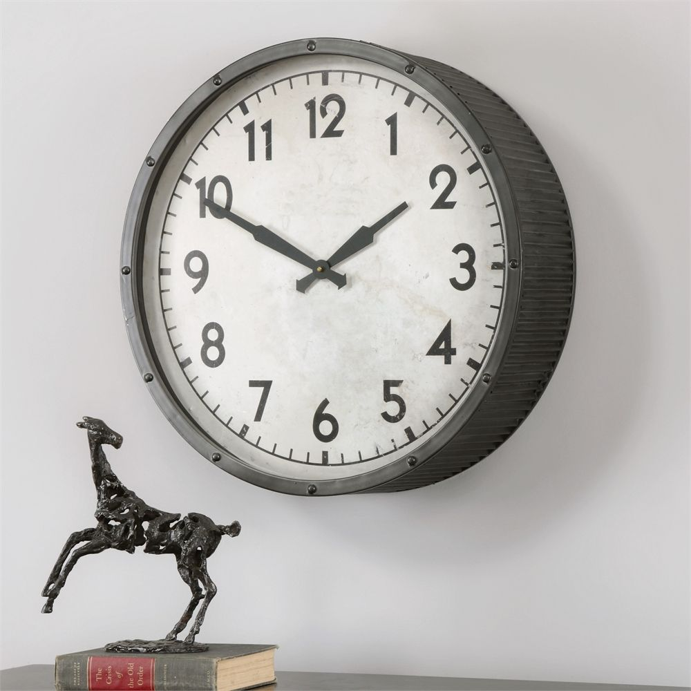 Berta Ivory Wall Clock   Premier Home Decor