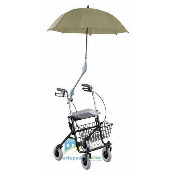 Parasol PROFT. Protección contra el sol y la lluvia, que permite mantener ambas manos en el rolator. Resistente al viento.