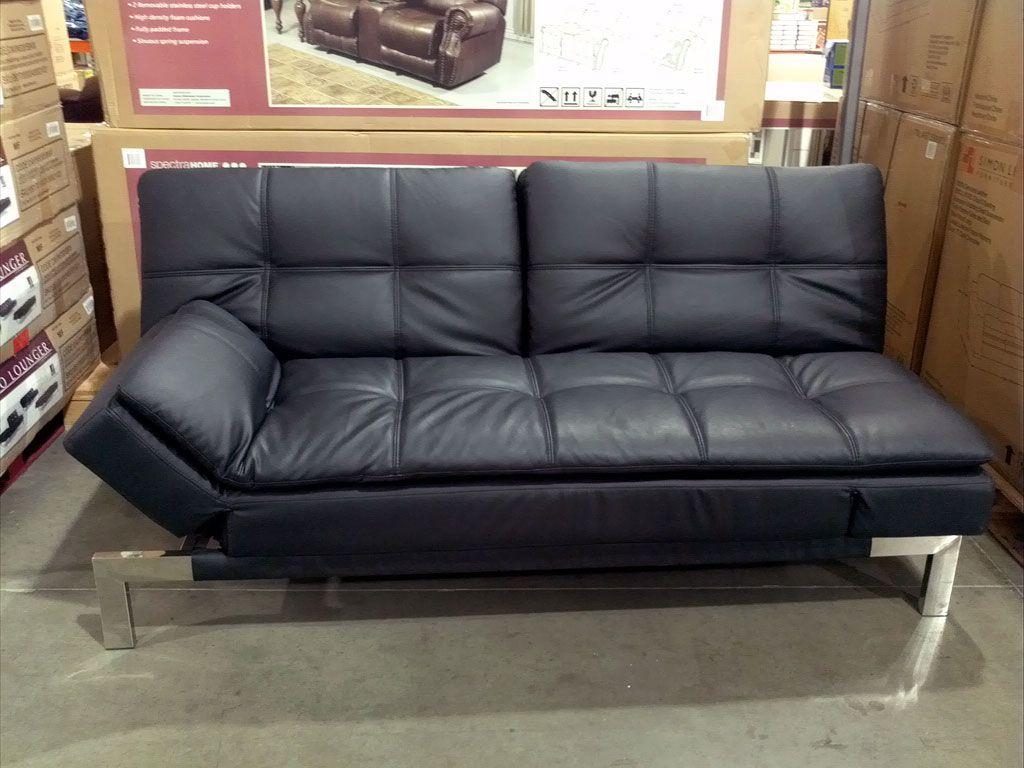 Black Leather Sofa Costco Variant Living In 2020 Black Futon Futon Sofa Bed Futon Couch