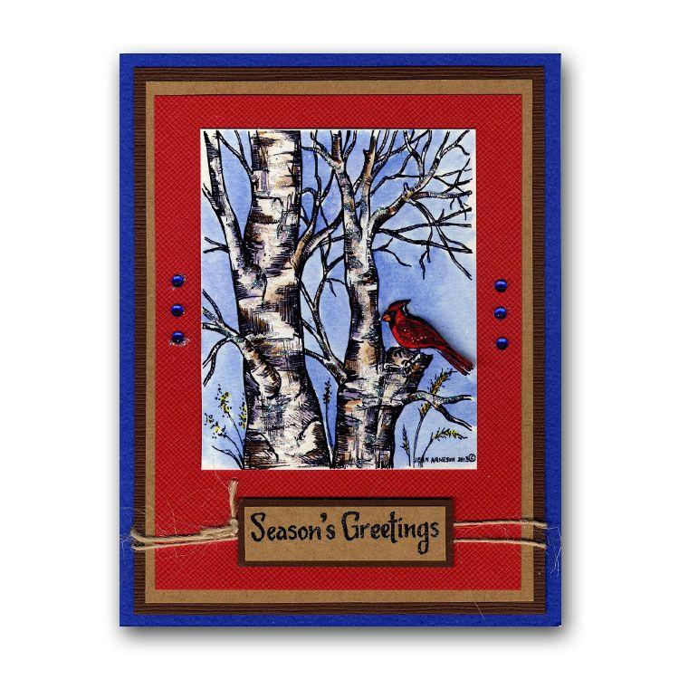 Northwoods Cardinal Season's Greetings Scrapbook