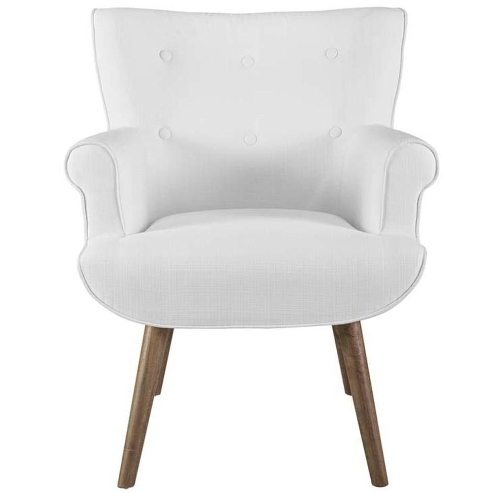 Modway Cloud Upholstered Armchair - White