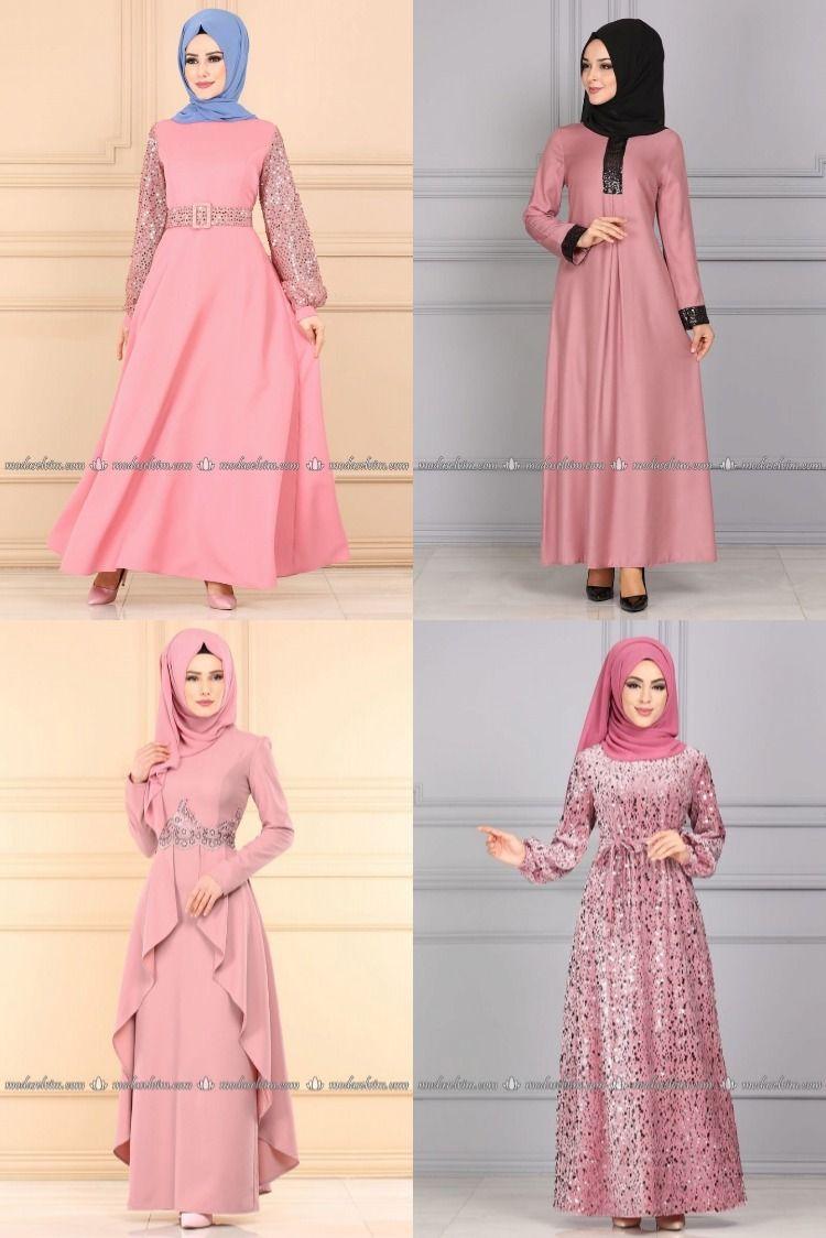 2020 Kis Modaselvim Pudra Tesettur Elbise Modelleri 3 3 Modaselvim Elbise Modelleri 2020 Elbise Modelleri Elbise Yazlik Kiyafetler