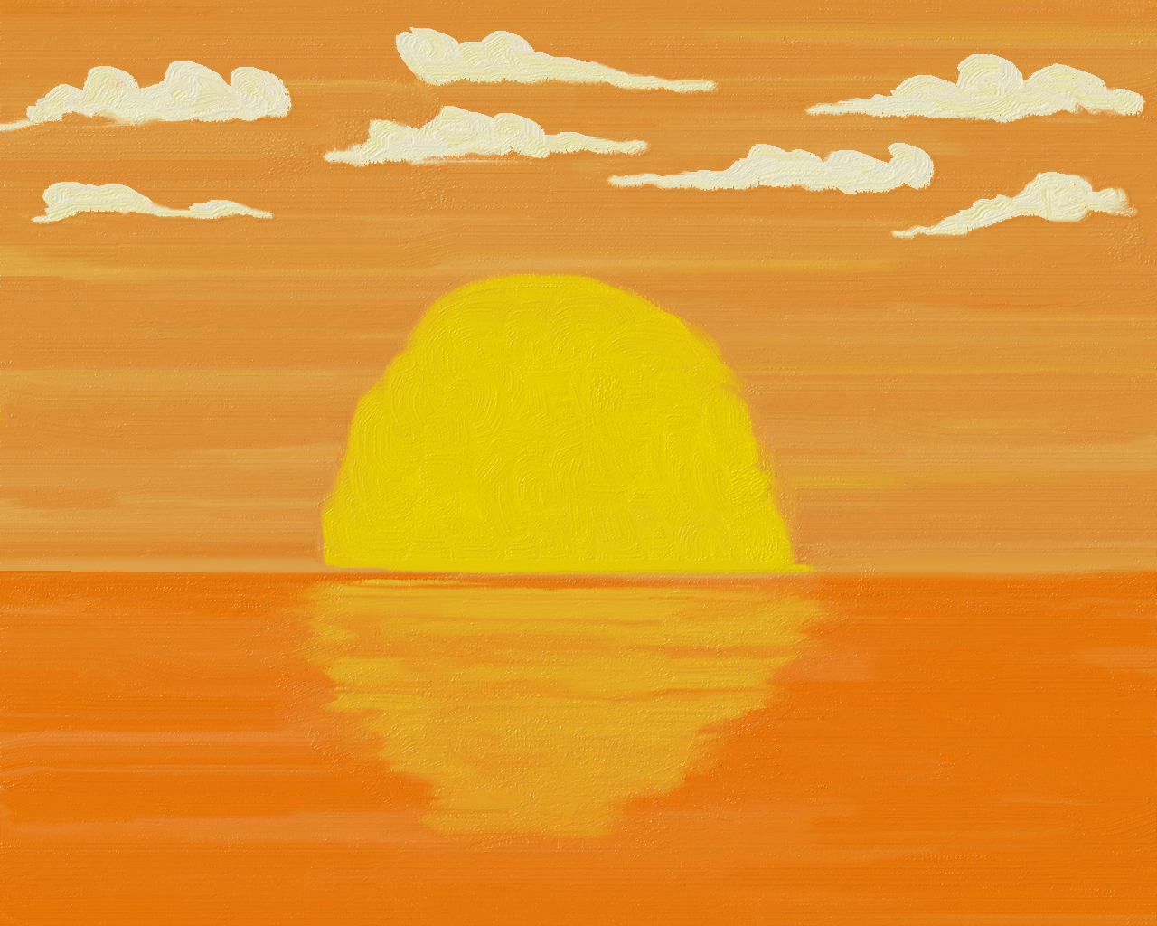 Sunset.. Drawing with Frech Paint app.. ツ Paint app
