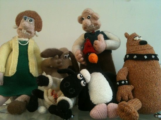 Wallace and Gromit and friends in knit | WALLACE AND GROMIT | Pinterest