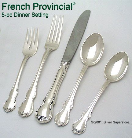 Towle Sterling Silver French Provincial 5 Piece Setting Vintage