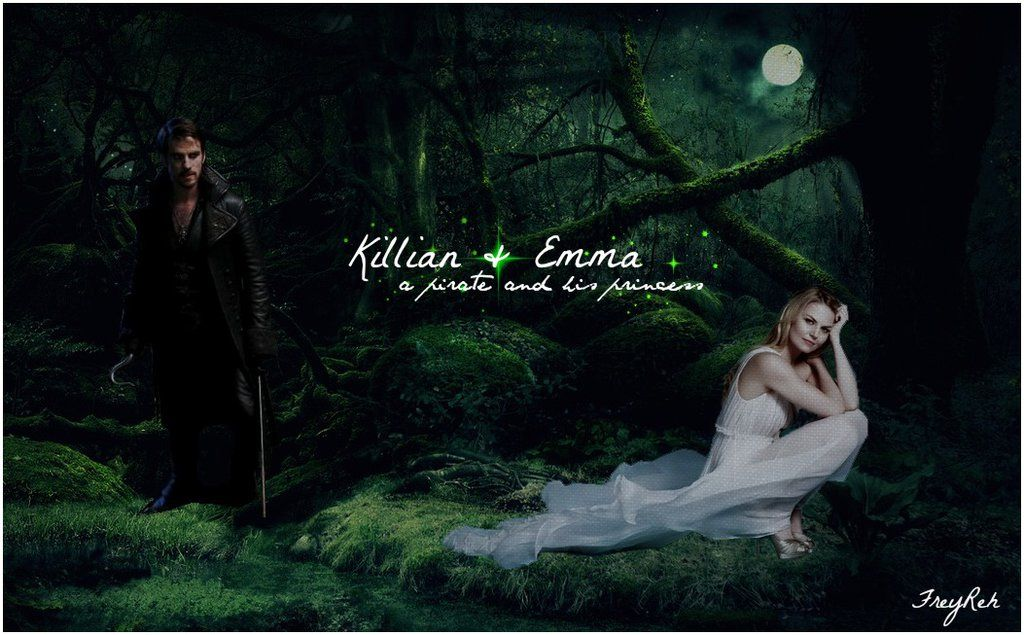 wallpaper of ca... Once Upon A Time Wallpaper Captain Swan