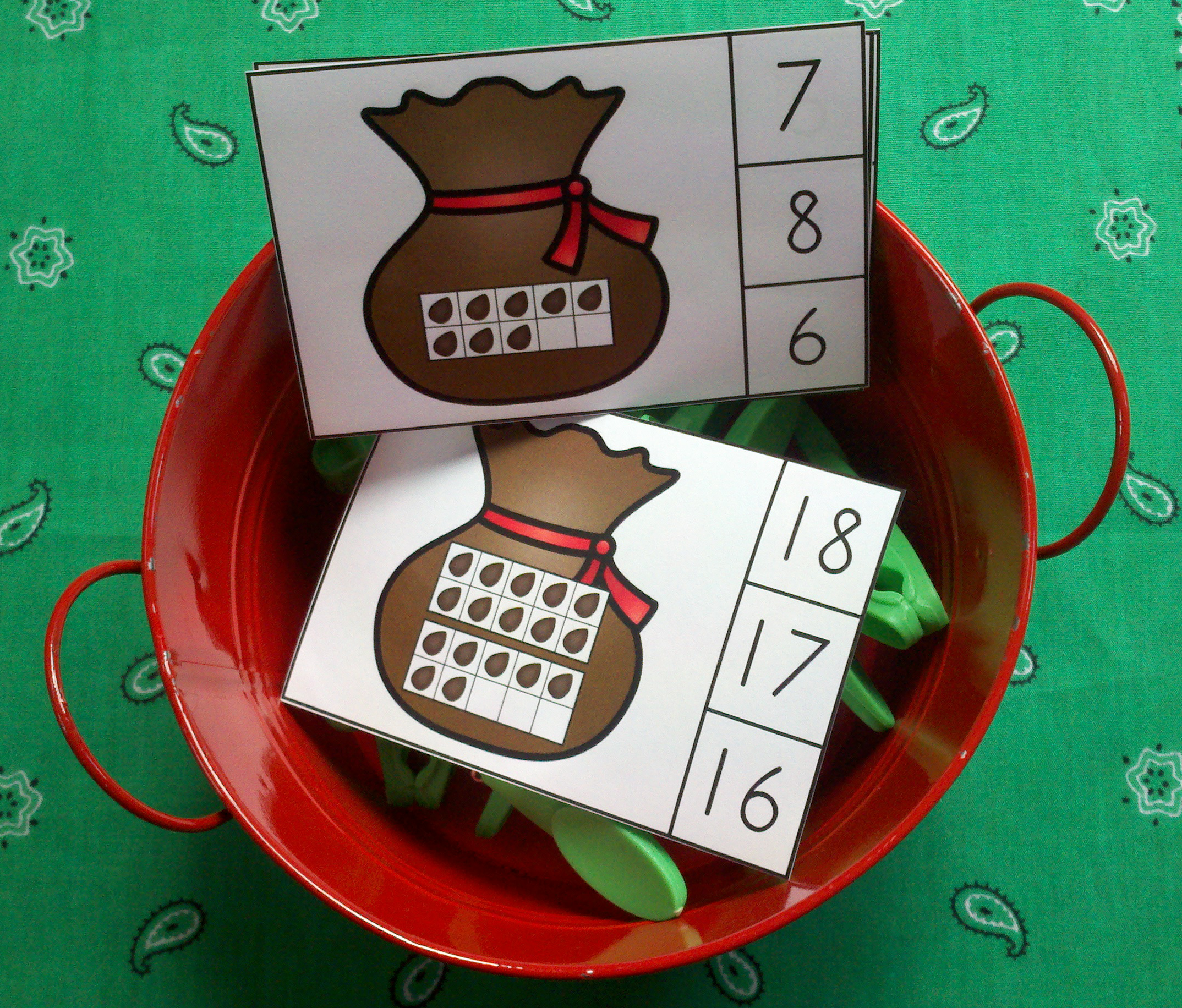 Johnny Appleseed Math Centers Numerals To 20