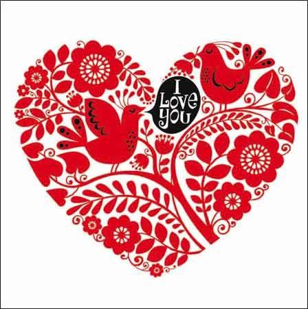 Valentines Day card – Bird Valentine Card