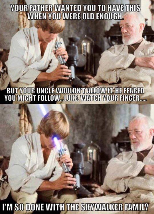 Watch Out Luke Star Wars Humor Funny Star Wars Memes Star Wars Memes