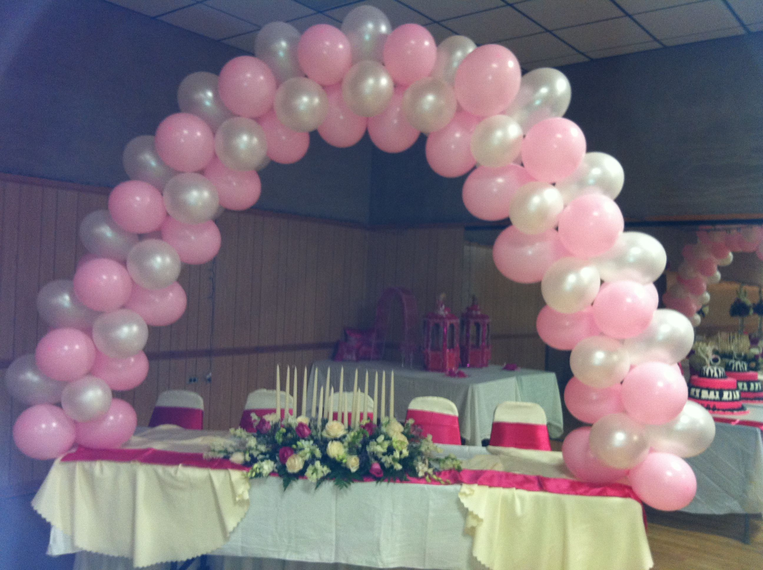 Balloon arch for a sweet 16 balloon arch sweet 16 sweet