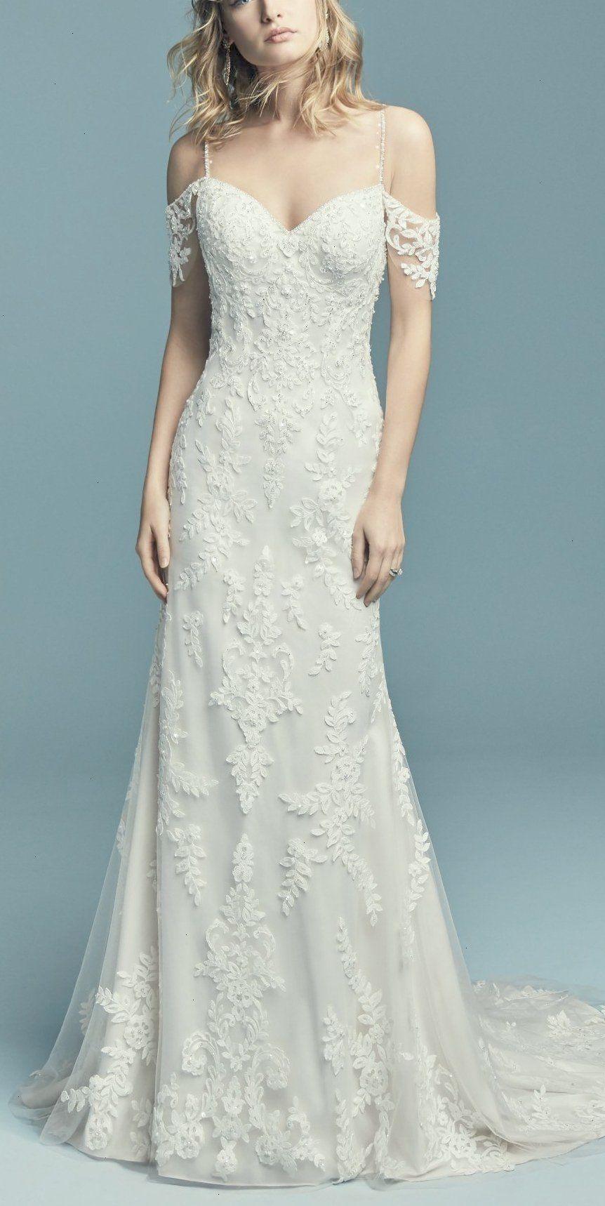 Maggie Sottero - ANGELICA Soft and elegant this sheath wedding dress ...