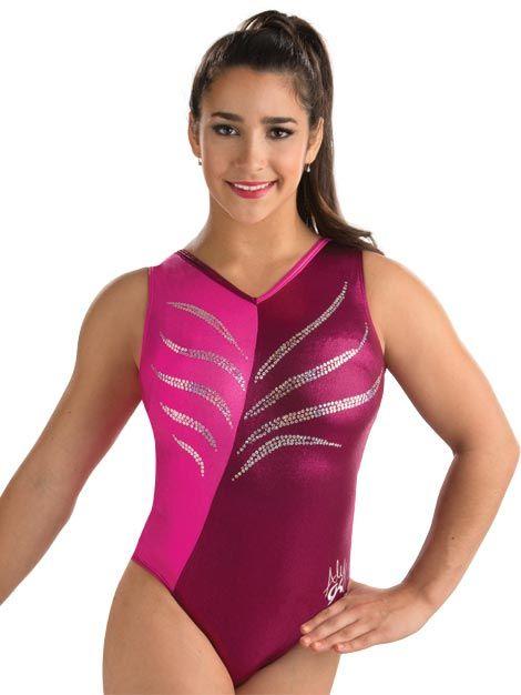 New girls gymnastic leotard feathers