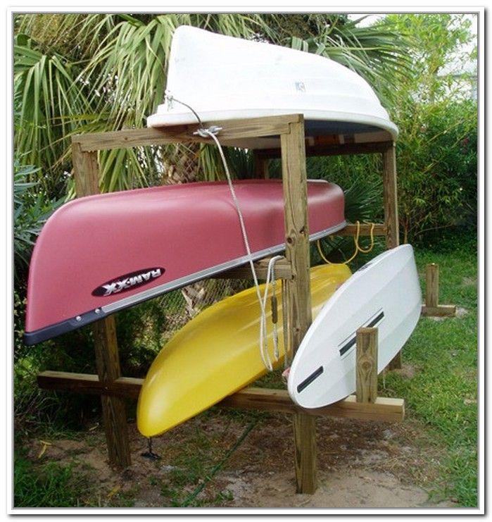 Homemade Kayak Storage Racks | Aménagement extérieur, Extérieur, Canot
