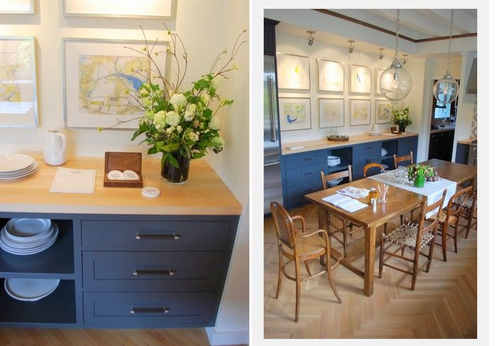 Cabinets Are Painted In Benjamin Moore Midnight Blue House Blue