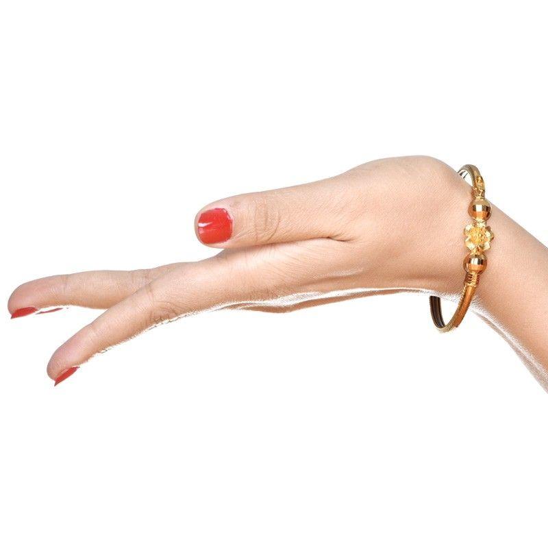 22K Yellow Gold Half Cover Bracelet Noa | Bracelets, Gold and Bangle