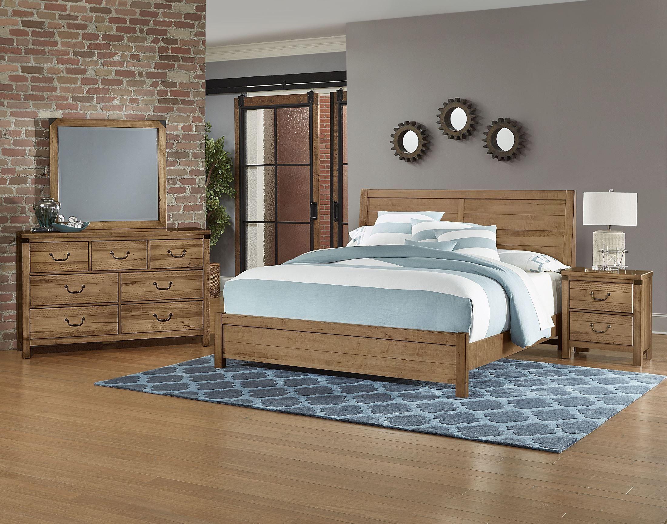 Sedgwick Natural Maple Plank Bedroom Set Bedroom set