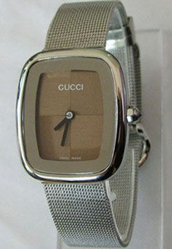 Gucci Stainless Steel Coffee Dial Lady's Replica Watch