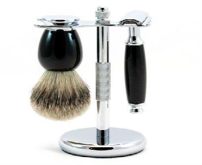 The Basic Shaving Set Double Edge Razor Badger Bush And