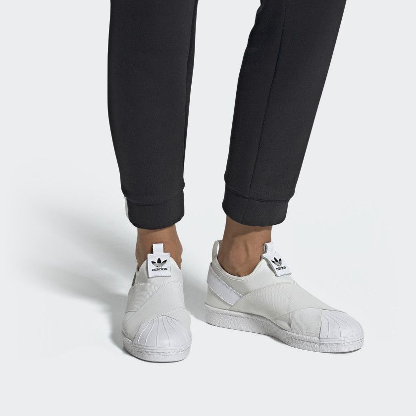adidas femme superstars slip on