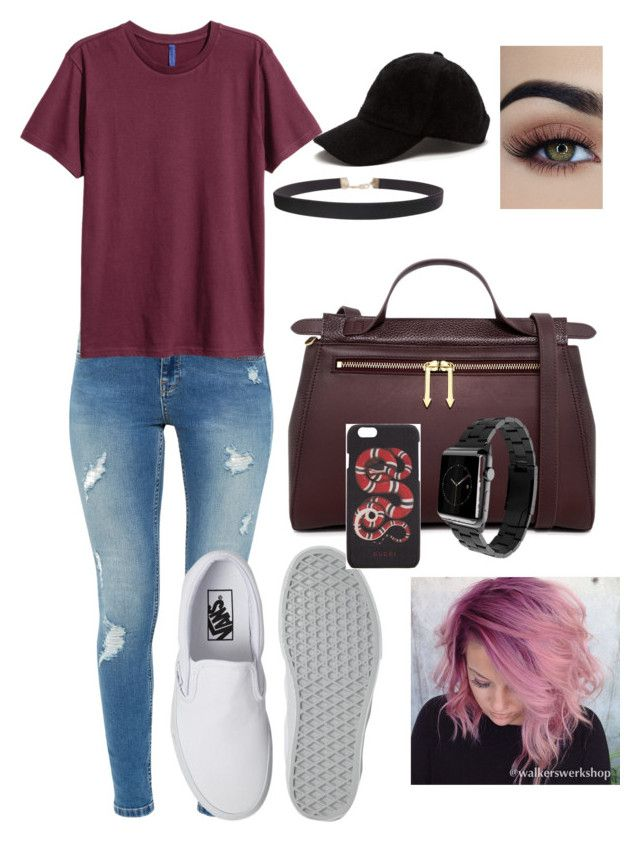 """""""Pink vibes"""" by lexxilexxflexx on Polyvore featuring Ted Baker, Vans, Karen Walker, Gucci, Monowear and Humble Chic"""