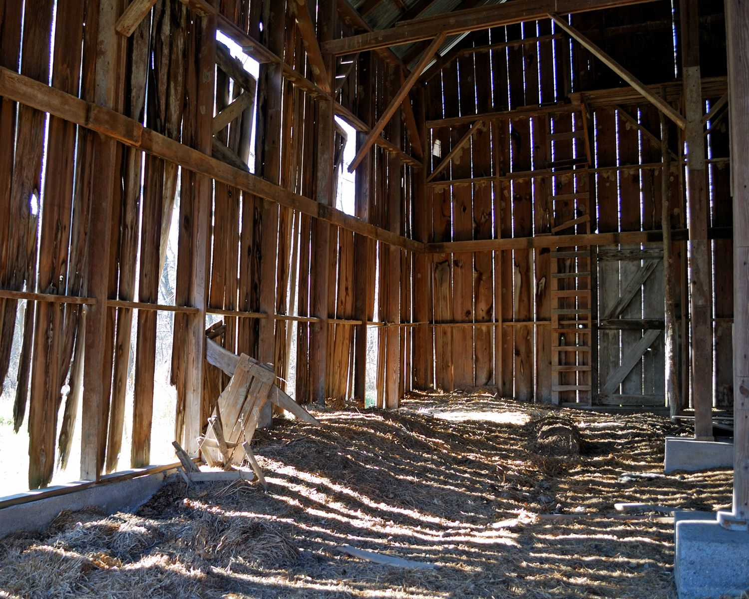 old barn interior. This picture well shows the feeling and ...