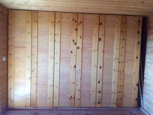 Kleiderschrank - Front Kiefer-massiv 6-türig - gut erhalten in - Schlafzimmerschrank Kiefer Massiv