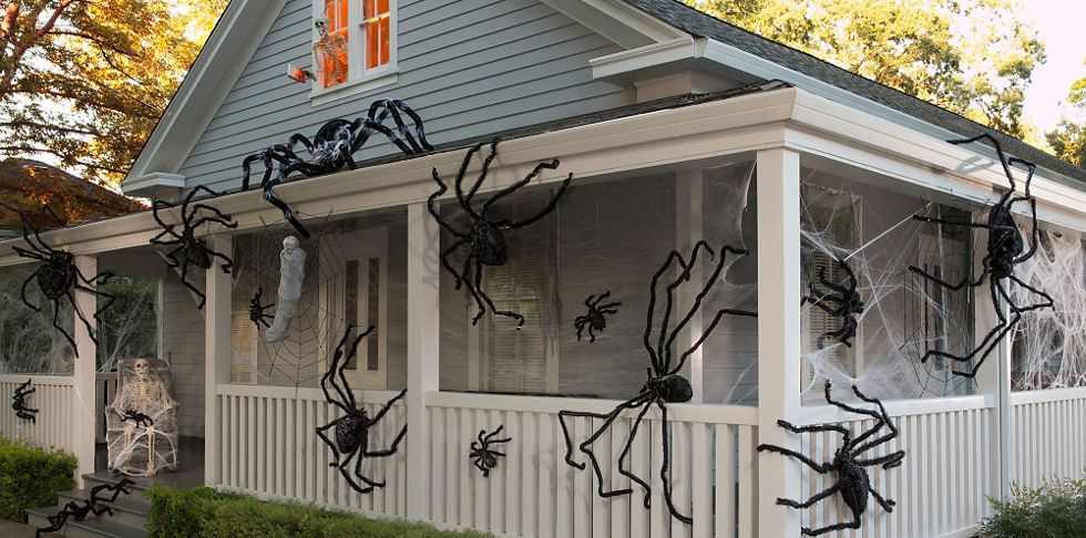 Halloween Spiders - Giant Spiders, Spider Webs  Spider Decorations - giant spider halloween decoration