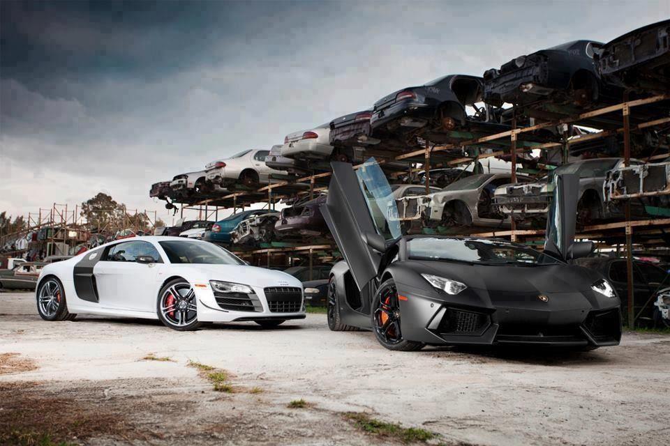 Lamborghini Aventador Lp700 4 Grim Reaper Audi R8 Gt Cemetery Keeper Which 1 Do You Prefer Cars Super Sport Cars Car