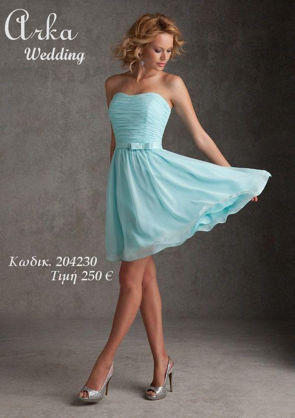 Φόρεμα βραδινό κόντό αέρινο κωδικός 204230 Πληροφορ. Τηλεφ. 210 ...