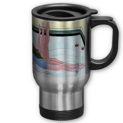 Synchronized Swimming on a travel mug
