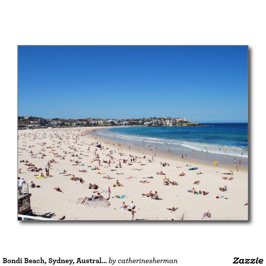 Bondi Beach Sydney Australia Post Card Zazzle Com Bondi