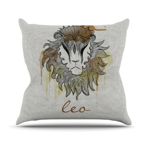 """HAPPY BIRTHDAY TO ALL THE LEOs """"Leo"""" Throw Pillow By"""