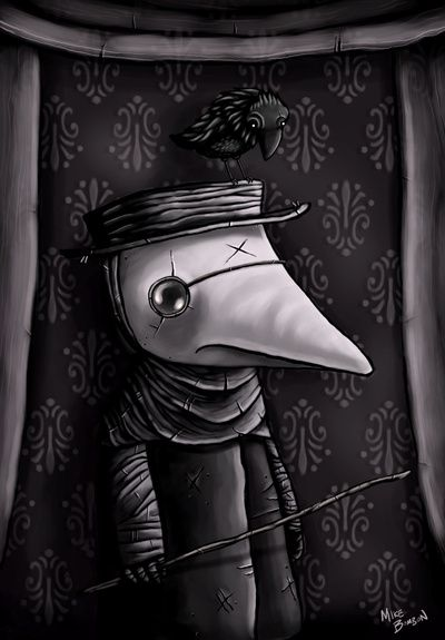 The Plague Doctor Art Print By Mike Bombon Society6 Plague Doctor Art Prints Plague