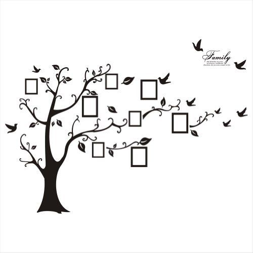 Family Tree Wall Decal Sticker Large DIY Photo Picture Frame Removable Decor