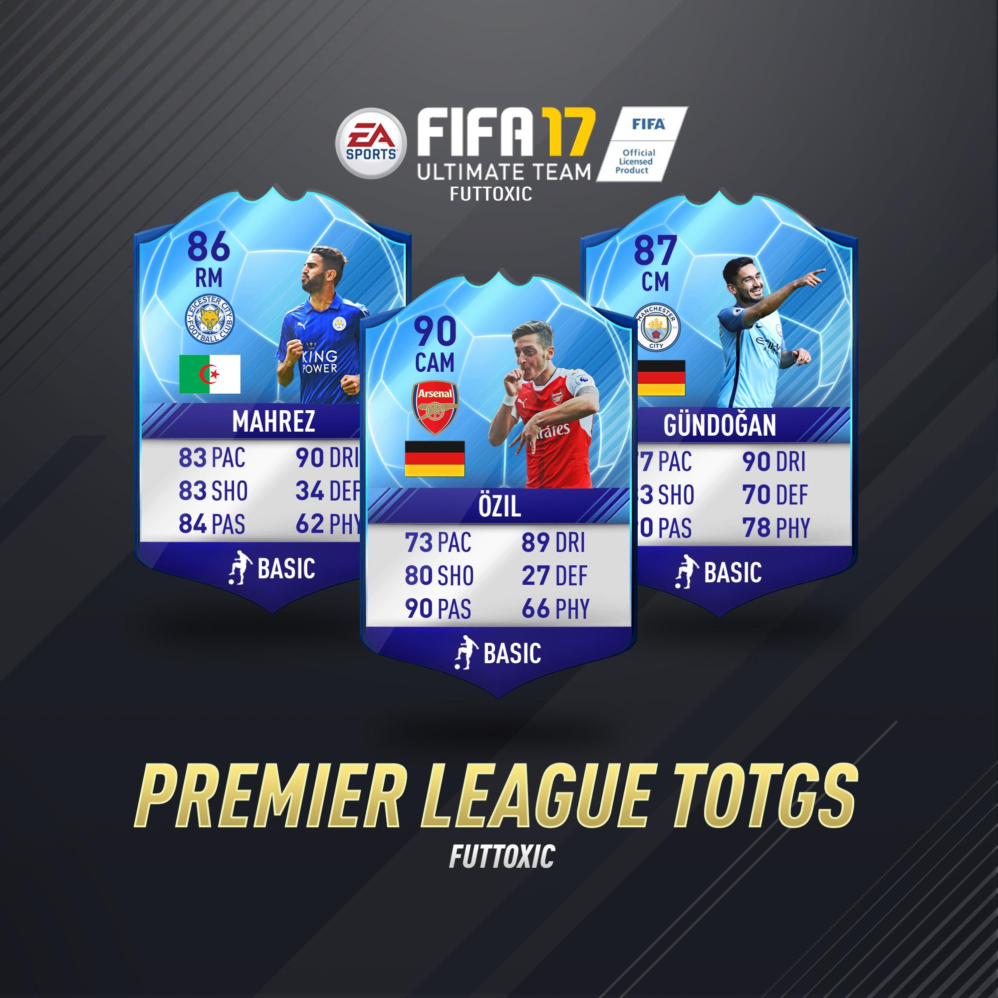 What Are Your Thoughts On The Premier League Totgs Cards Totgs Fut Fut17 Fifa16 Fifa17 Ozil Gundogan Mahrez Futbol German Fifa Fifa 17 Fifa Games