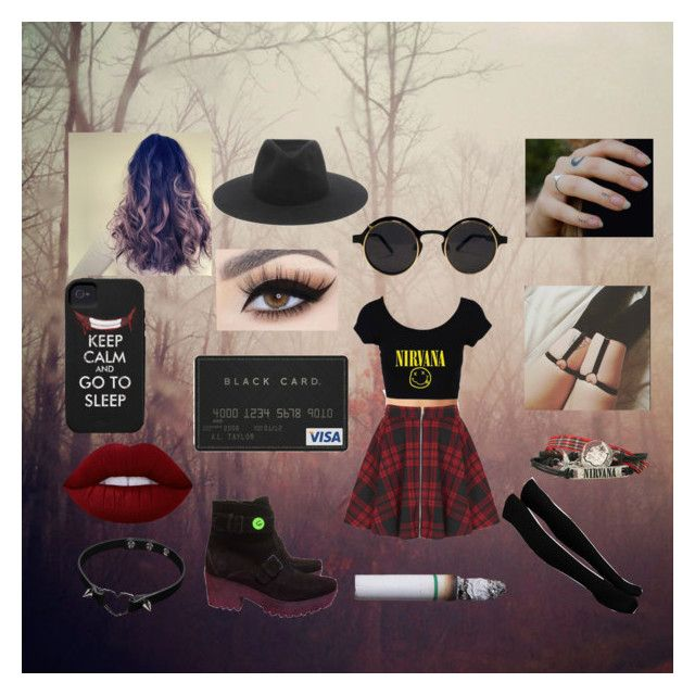"""""""Grunge You Glad I Chose Red"""" by jmcunningham ❤ liked on Polyvore featuring Oh My Love, rag & bone, Miu Miu and Lime Crime"""