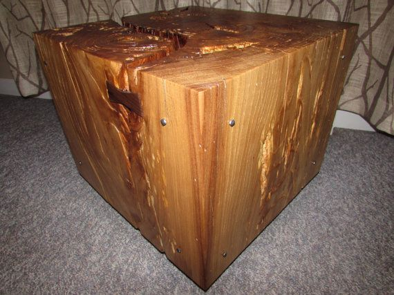 Solid Black Locust Wooden Cube Coffee Table Cube Coffee Table Wooden Cubes Wooden