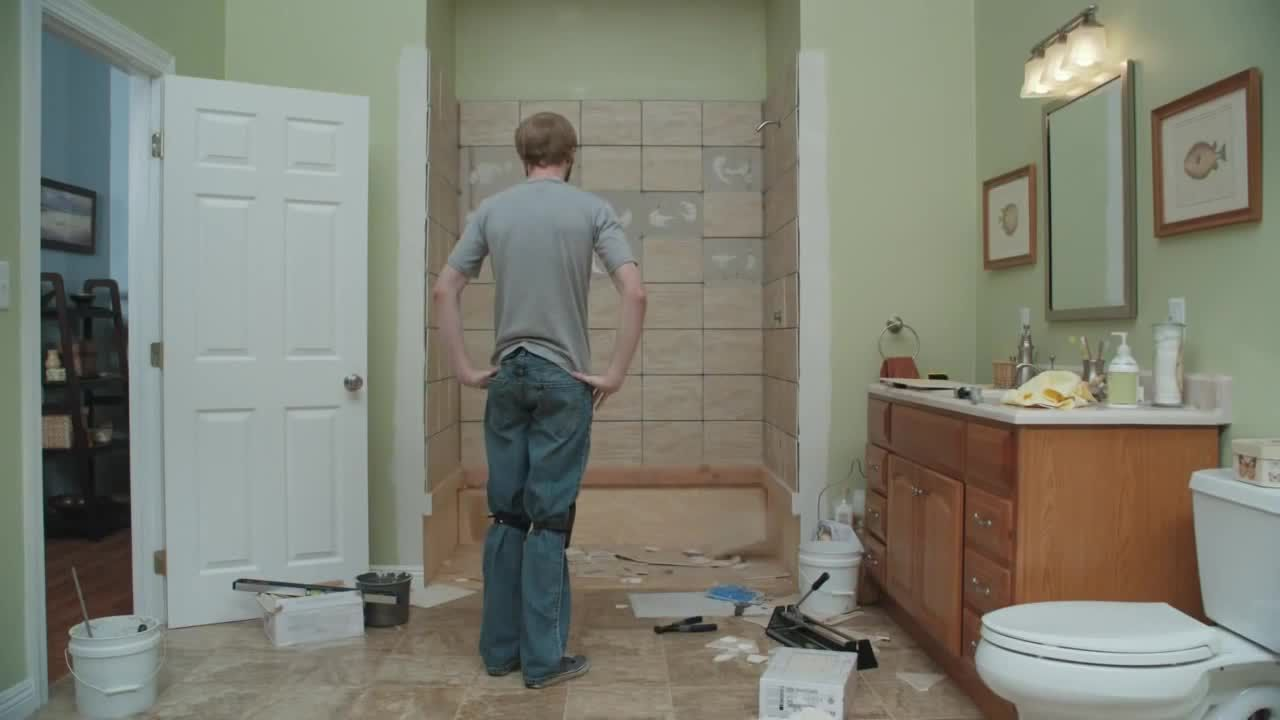 That Lowe's Commercial With The Falling Tiles Is Pretty Funny Extraordinary Lowes Bathroom Tile Designs Design Decoration