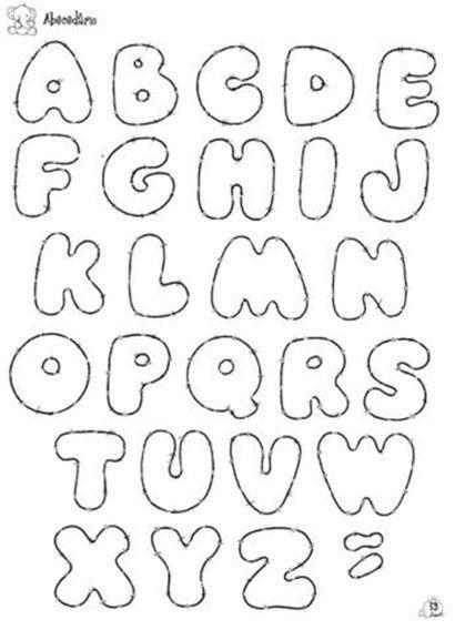 letras para mural molde do alfabeto maiusculo   aTIVIDADES   Pinterest