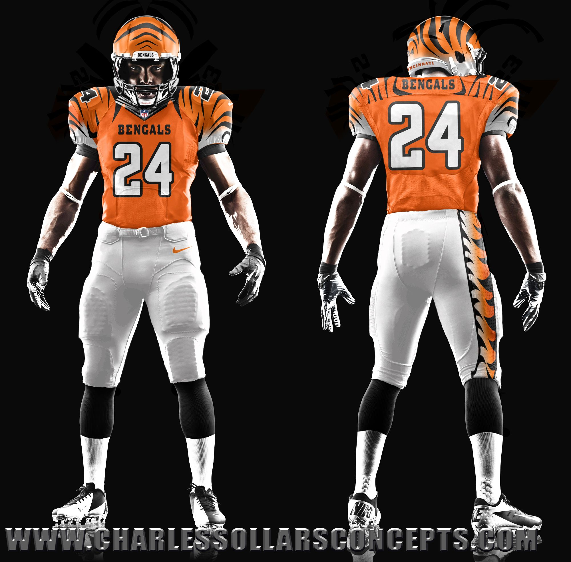 Cincinnati Bengals Concepts Orange Nfl outfits, Steelers