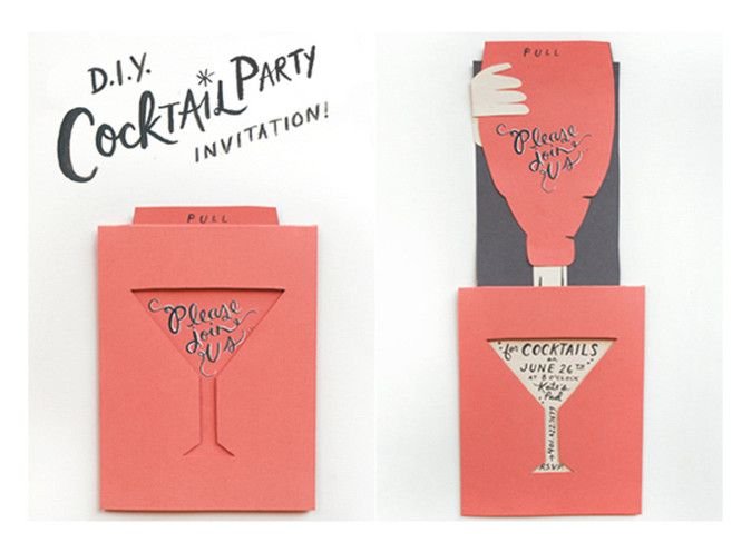 Dont have a halfcocked affair Cocktail party invitation