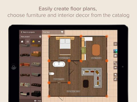 planner 5d home design creates floor plans interior design and decor in 2d - Dream House Planner