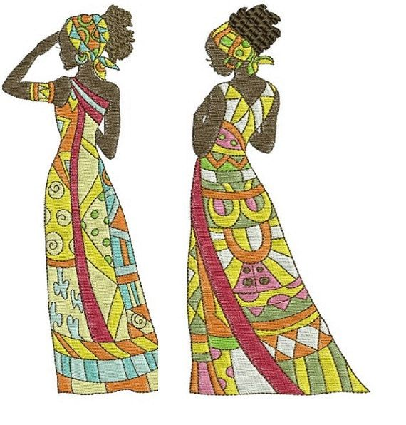 African Beauties Embroidery Designs For Embroidery By Samdansmom