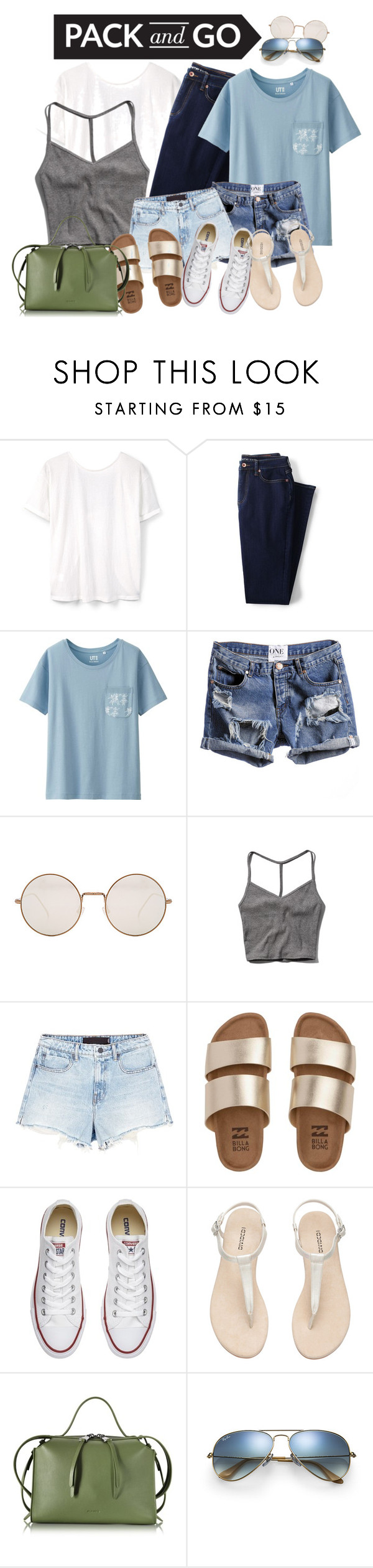 """""""rio"""" by kapreece on Polyvore featuring MANGO, Lands' End, Uniqlo, Illesteva, Abercrombie & Fitch, Alexander Wang, Billabong, Converse, Jil Sander and Ray-Ban"""