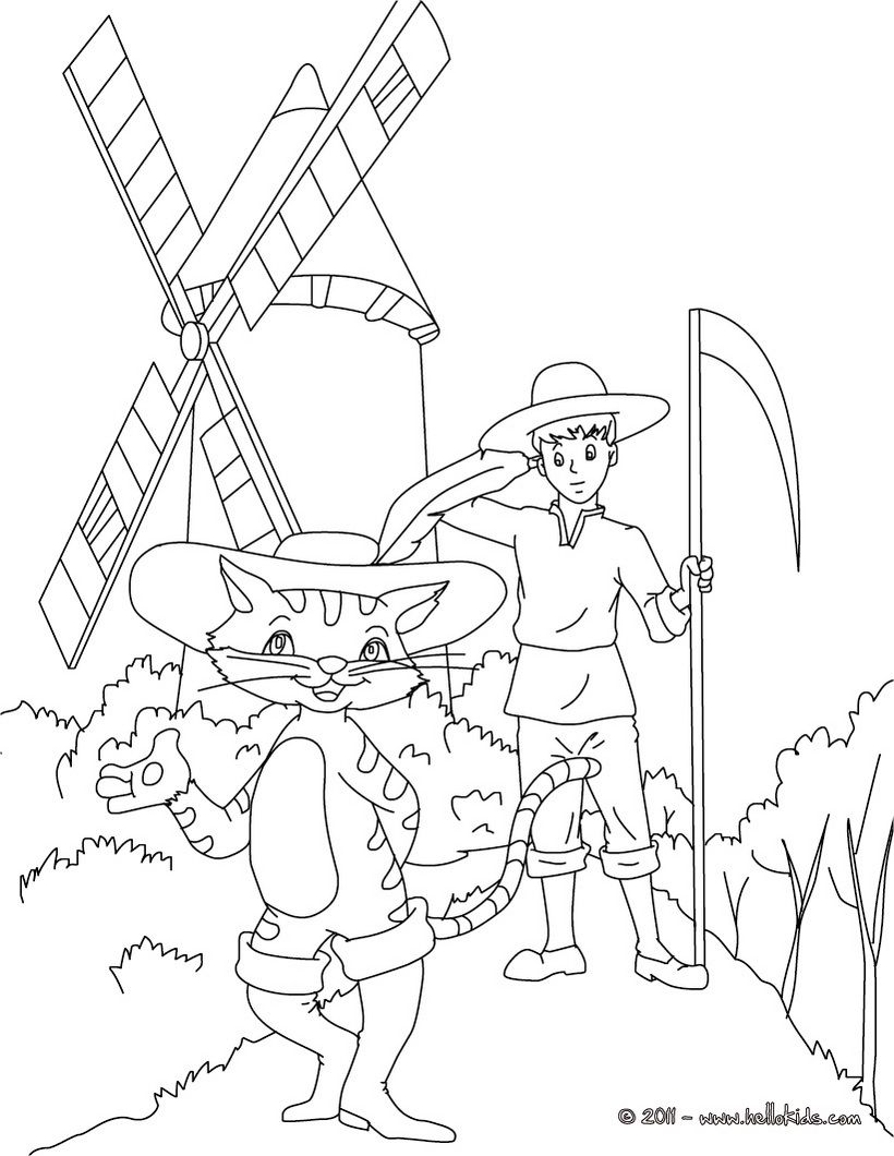 PUSS IN BOOTS fairy tale coloring page | Reading List Activities ...
