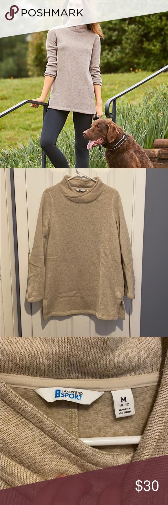 Lands End Euc Tunic Sport Fleece Sweater Fleece Sweater Tunic Sweater Sweatshirt Tops [ 1740 x 580 Pixel ]