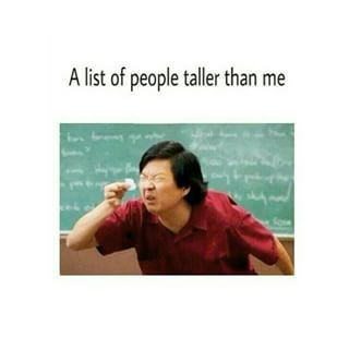 Mido 1.72 ( tal vez no sea mucho, pero en mi pais soy como un titan o algo asi :)) aparte tengo..14 π^π)