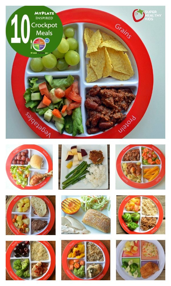 Top 10 Healthy Myplate Inspired Crockpot Meals Healthy Balanced Meals Baby Food Recipes